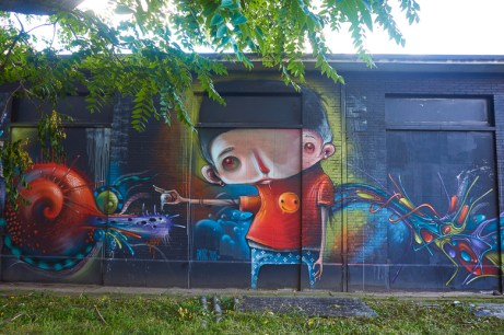 Mural by Ucon, Amatic & B-Art in Hasselt, Belgium