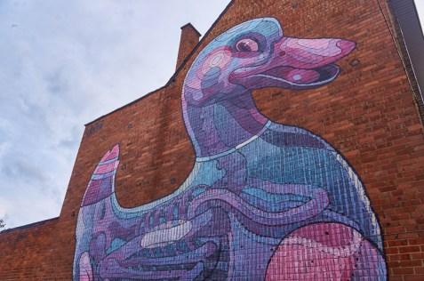 Mural by Aryz in Hasselt, Belgium