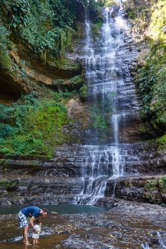 Edwin and Ayla at Juan Curi waterfall near San Gil, Colombia