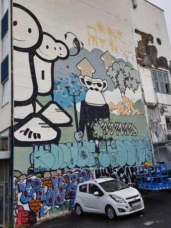 London Police street art in Reykjavik, Iceland