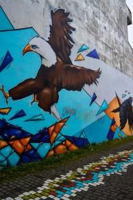 Eagle mural in Reykjavík, Iceland.