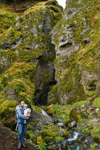 Exploring the Rauðfeldsgjá Gorge in Iceland