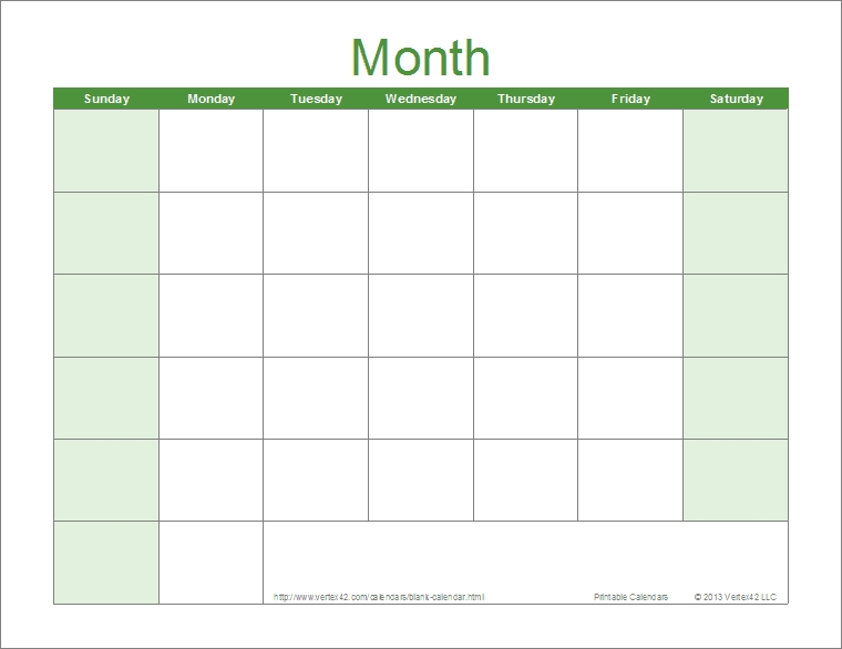 Printable calendar template for monthly, weekly, and yearly calendars. Large Block Calendar Template Image   Calendar Template 2021