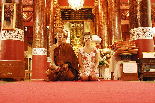Tailandia.-Chiang-Mai.-Dani-e-o-monge-budista.
