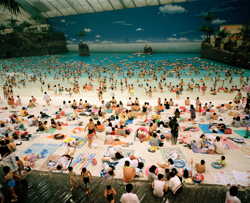 Japan. Miyazaki. The Artificial beach inside the Ocean Dome. From 'Small World'. 1996.