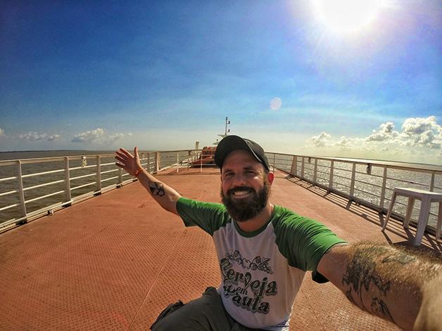 Viagem de barco no Rio Amazonas