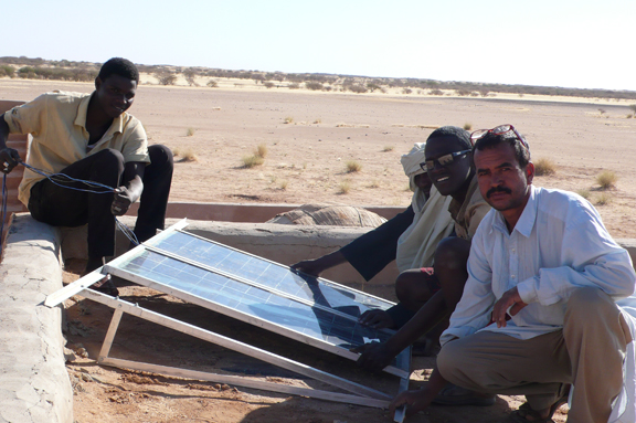 solar installation at Tamesna