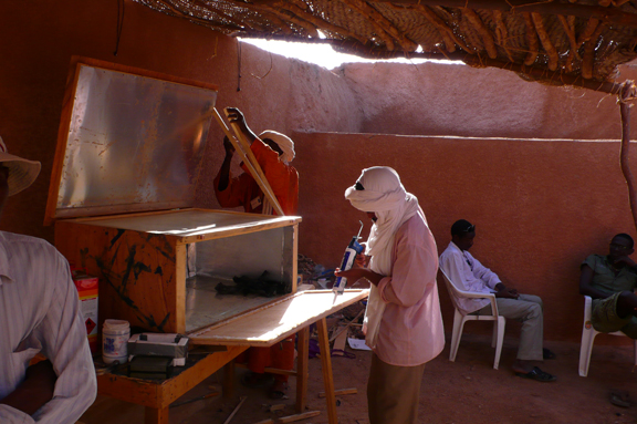 solar oven construction