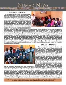 Nomad newslette December 2011