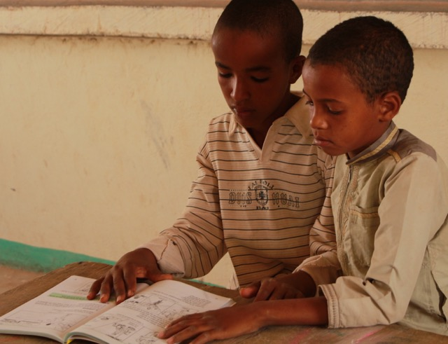 Mohamed Atchane and Ayouba Amoumene studying their lessons.  It is fun to finally know the names of almost everyone.