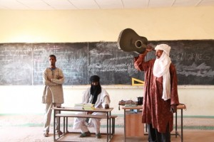 Moussa, parent of five kids at Tamesna, talks about the importance of music to the Tuareg and protecting the guitar.