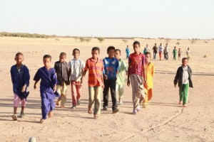 The kids came out to the residence/education center, about 1 kilometer from the school for a final rehearsal.