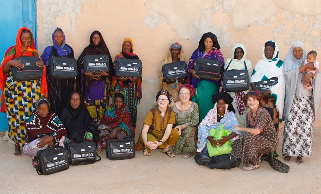 Each matron received a satchel filled with essential supplies. All included iron, misoprostil, amoxicillin, albendazole, gloves, delivery pad, sterile blades and cords, solar lights and report forms. Those who qualified included blood pressure cuffs.