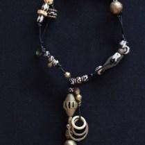 Batik bone beads