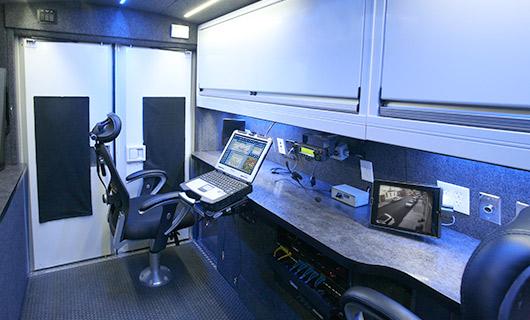 Inside Mobile Surveillance Vehicle