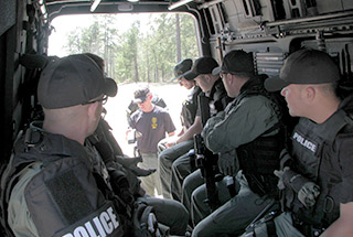 Swat Team in Sprinter Van