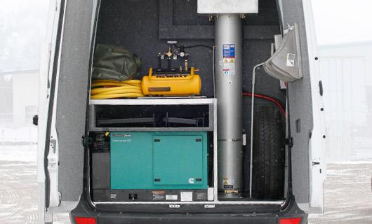 Sprinter Van Rear Storage