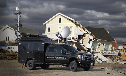 Tactical Vehicle at Hurricane Sandy