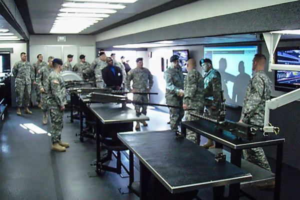 Soldiers in Mobile Classroom
