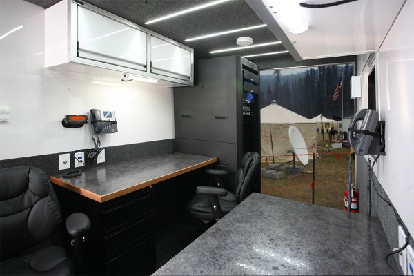Trailer Workstations and Rear Entrance