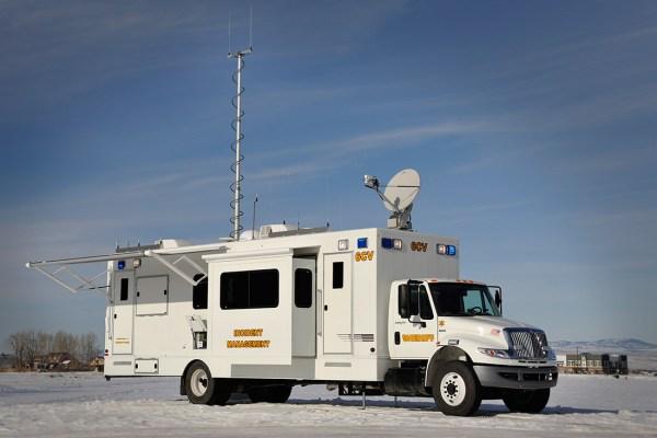 Deployed Mobile Command Vehicle