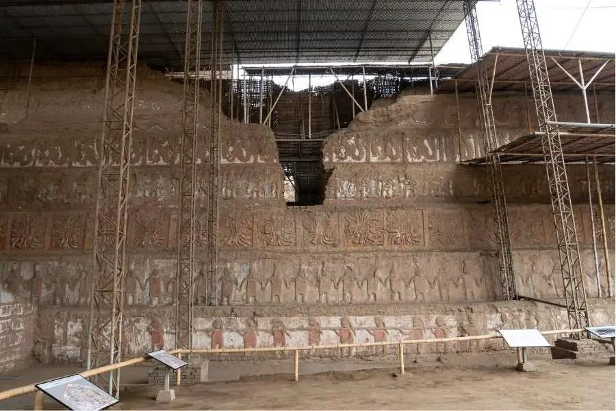 Chan Chan Ancient ruin site in Peru South America