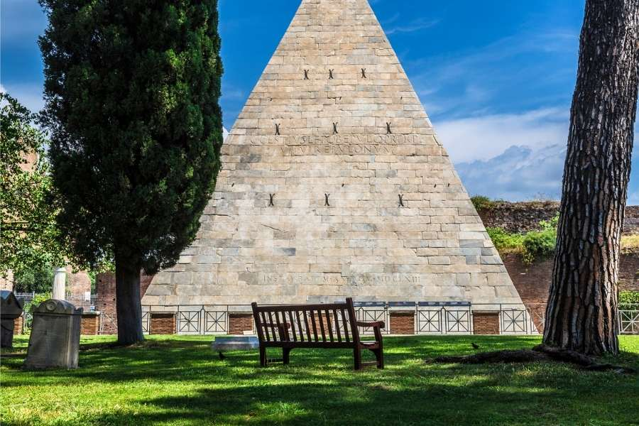 Places To Visit In Rome - The Pyramid Of Cestius