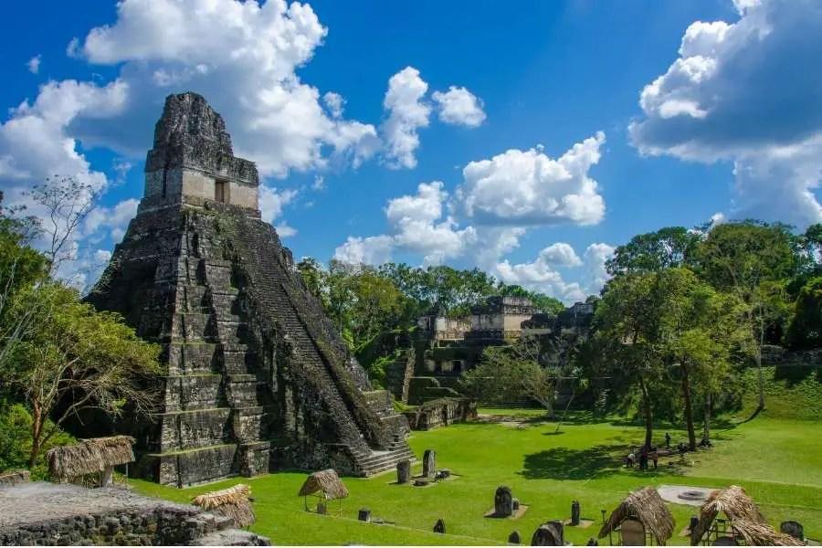 Tikal Ancient ruin sites in Guatemala Central America