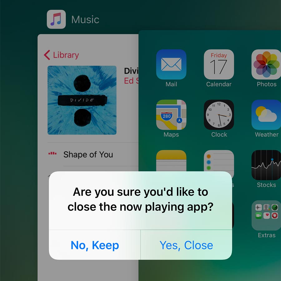 Closing apps