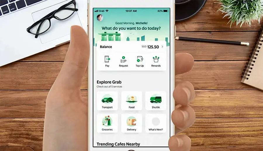 travel apps  - Grab app