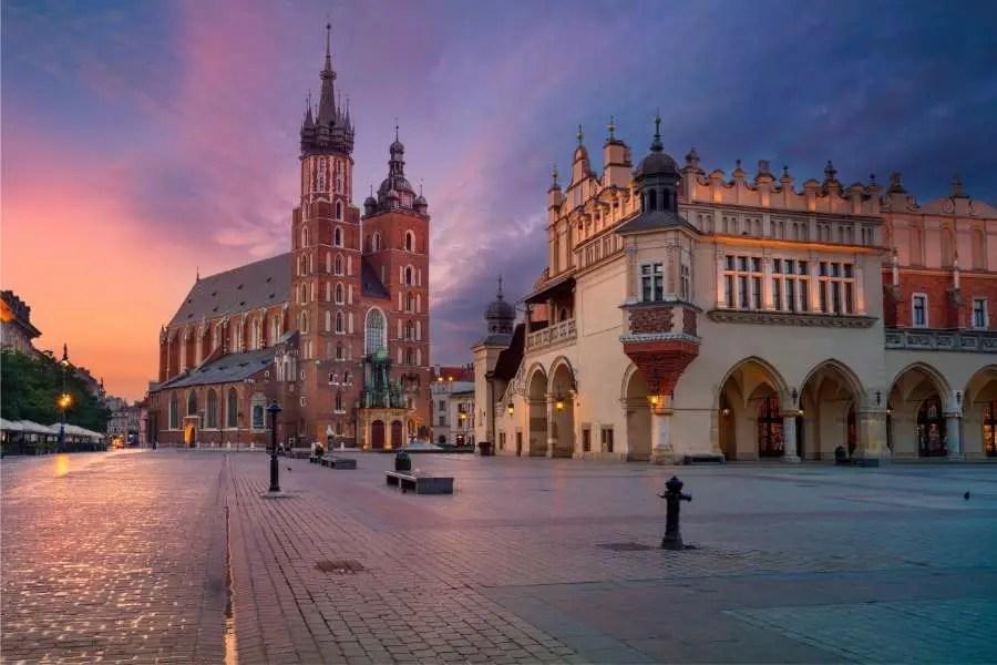 Save money travelling through Europe - Krakow Poland