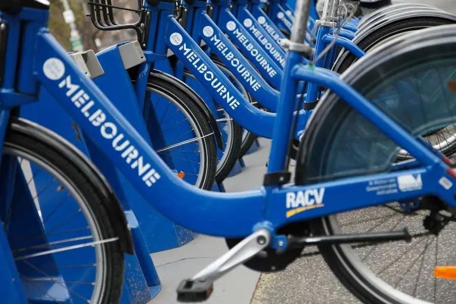Use a bike sharing scheme