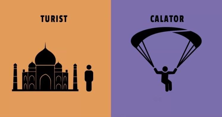 Diferenta dintre turisti si calatori