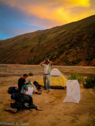 Our Precarious Campsite in the Pilcomayu Riverbed