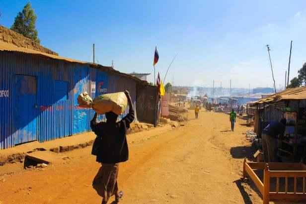 Approaching the Center of Kibera