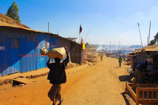 Approaching the Center of Kibera