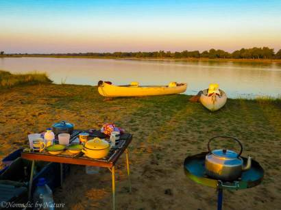 Morning Rises on our Island Camp on the Zambezi River