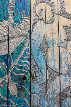 Artistically Carved Doors in Maputo, Mozambique