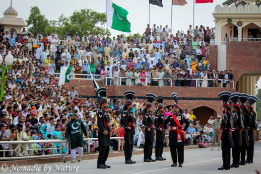Starting the Ceremony at The Wagah Border