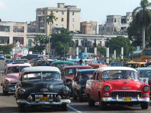 Antique Cars in Old Havana