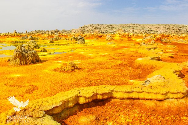 Rust Red and Canary Yellow Hot Springs, Dallol, Ethiopia