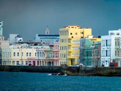 Modernized Building on Havana's Malecon