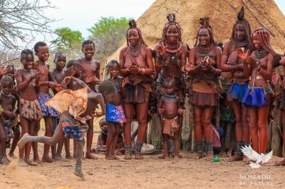 An Epic Move to Moon the Crowd, Himba Ondjongo Dance, Namibia