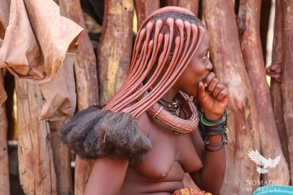 The Beautiful Ochre Hair of the Himba Ladies, Namibia