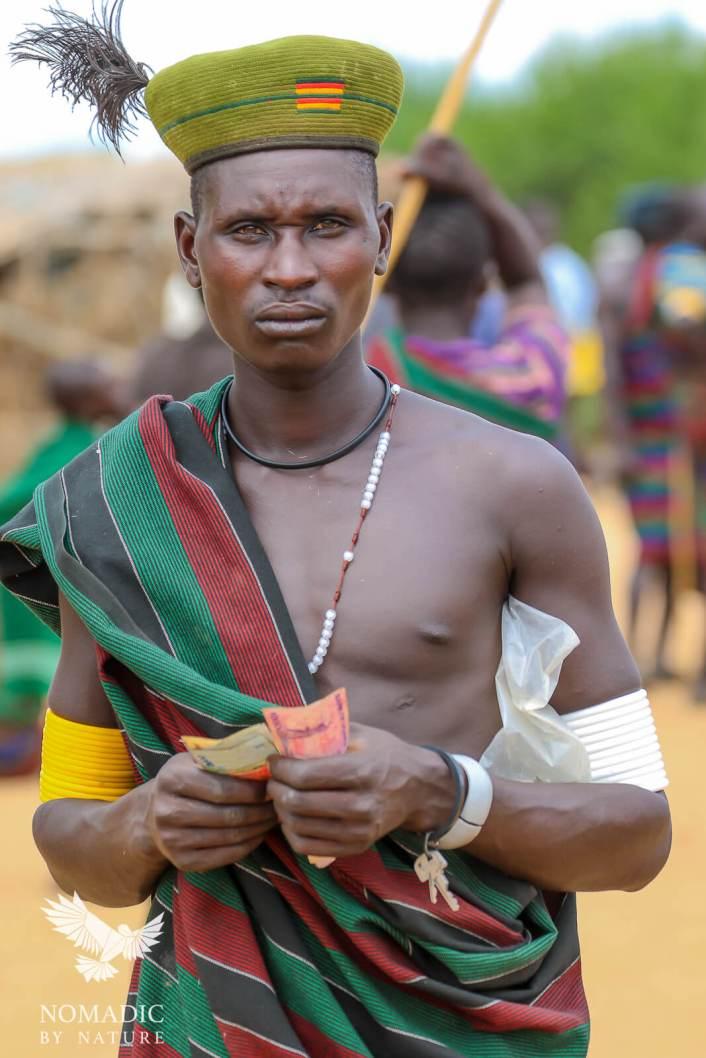 Dealing at the Cattle Market, Karamoja, Uganda