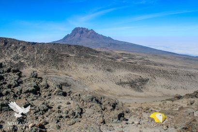 Camping in the Scree, Mount Kilimanjaro, Tanzania