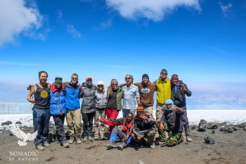 Super Proud to be Part of this Summit Crew, Climbing Mount Kilimanjaro, Tanzania