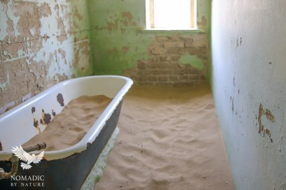 An Abandoned Bathroom, Kolmanskop Ghost Town, Namibia