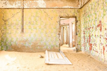 Ages of Old Wallpaper and Paint, Kolmanskop Ghost Town, Namibia