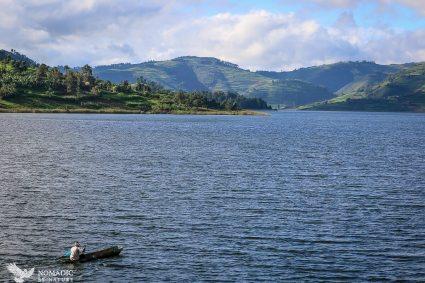 Paddling to Work, Lake Bunyonyi, Uganda